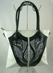 """Minőségi """"MaxFly"""" női táska egyedi, kézzel festett mintával!"""
