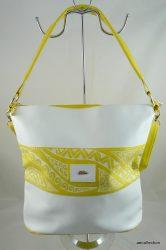 Női rostbőr  táska, dekoratív, egyedi, kézzel festett mintával!