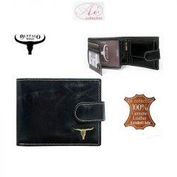 """""""BUFFALO WILD"""" prémium kategóriás marhabőr pénztárca, RFID védelmmel!"""