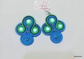 Sujtás fülbevaló Zöld-kék