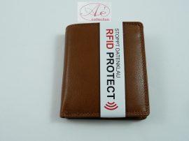 Minőségi, kisebb méretű bőrpénztárca, RFID védelemmel!
