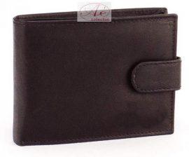 La Scala férfi bőrpénztárca fekete színben rengeteg kártyatartóval.
