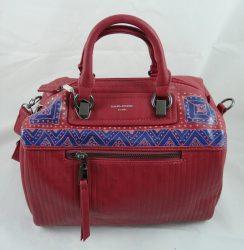 David Jones kompakt műbőr táska, kézzel festett, egyedi mintával!