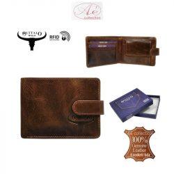 """""""BUFFALO WILD"""" prémium kategóriás marhabőr pénztárca, kisebb méretben, RFID védelmmel!"""
