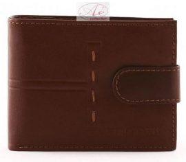 Elegáns, sportos Synchrony  bőrpénztárca, mahagóni barna színben.