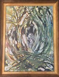 """Antal Éva festménye: """"Rejtőzködve"""""""