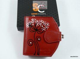 Sanchez 3 részes női bőr pénztárca fekete színben, RFID védelemmel!