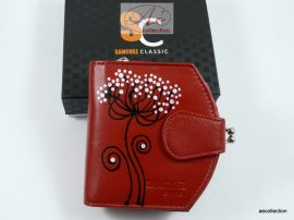 Sanchez 3 részes női bőr pénztárca piros színben, RFID védelemmel!