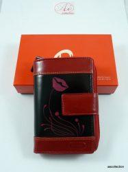 ByLupo 2 részes, kiváló minőségű bőr pénztárca, egyedi, kézzel festett mintával!